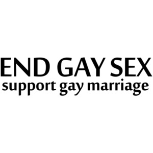 End Gay Sex, Support Gay Marriage